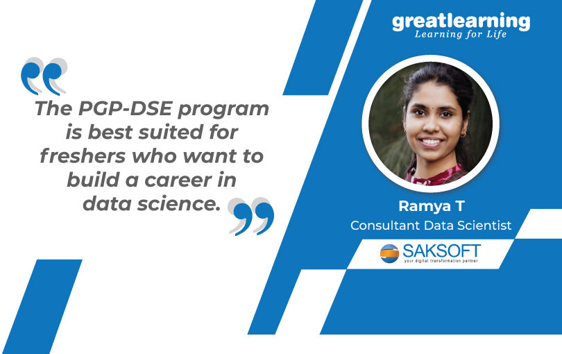 I got a lot of tips on performing well in interviews: Ramya T, PGP-DSE Alumnus
