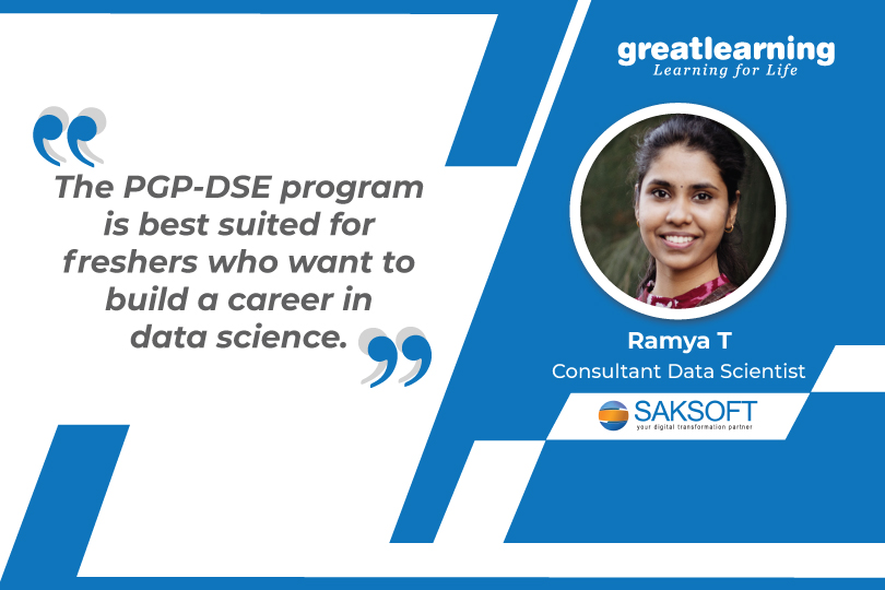 I got a lot of tips on performing well in interviews: Ramya, PGP-DSE.