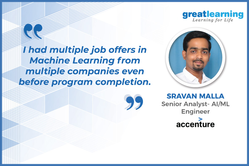 Great Learning helped me scale new heights - Sravan, ML Alumnus