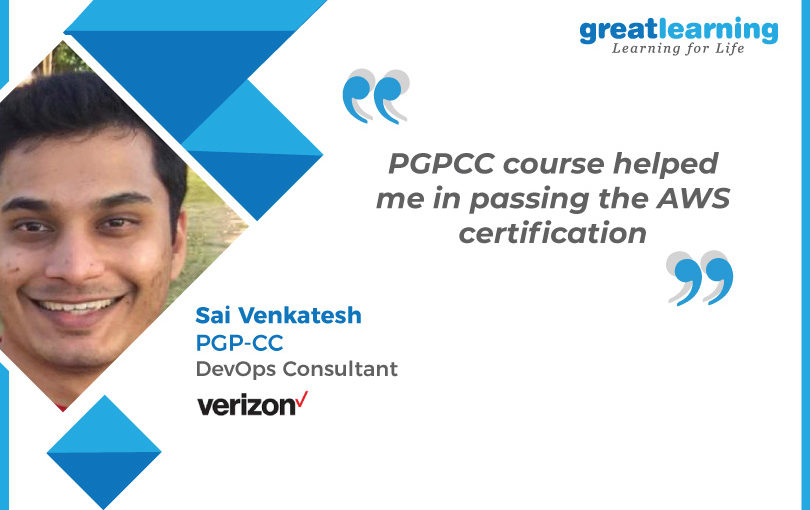 PGP-CC course helped me in passing the AWS certification: Sai Venkatesh, PGP-CC Alumnus