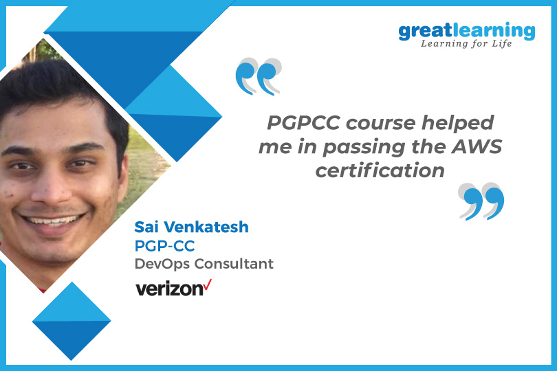 PGP-CC course helped me with AWS certification -Sai Venkatesh