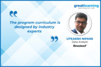 My transition to Data Analyst was smooth due to Great Learning faculty: Utkarsh Nipane, PGP-DSE alum