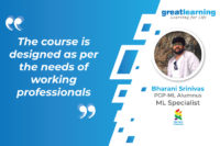 The course is designed as per the needs of working professionals – Bharani Srinivas, ML Specialist at Standard Chartered Bank