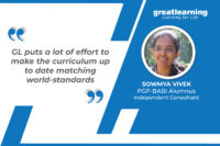 GL puts a lot of effort to make the curriculum up to date matching world-standards – Sowmya Vivek, Independent Consultant – Data Science, ML, NLP
