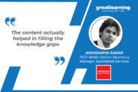 The content actually helped in filling the knowledge gaps – Aishwarya Saraf, PGP-BABI Online Alumnus