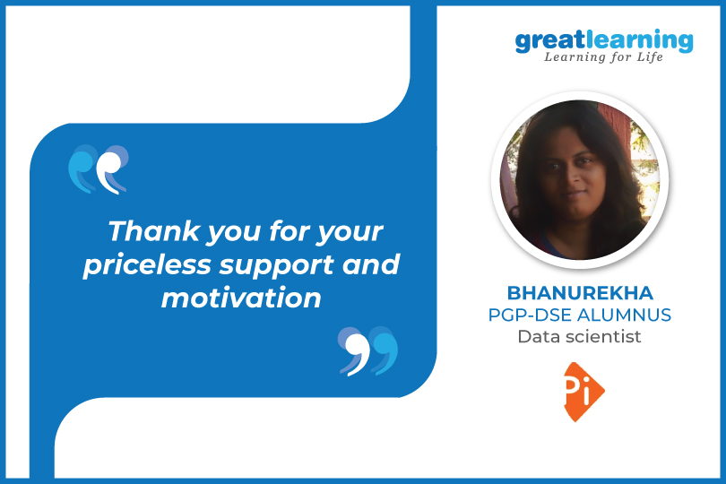 Thank you for your priceless support and motivation – Bhanurekha, Data scientist at Positive Integers