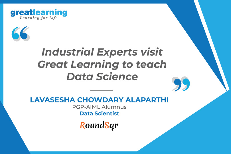 Industrial Experts to teach Data Science  : Lavashesha
