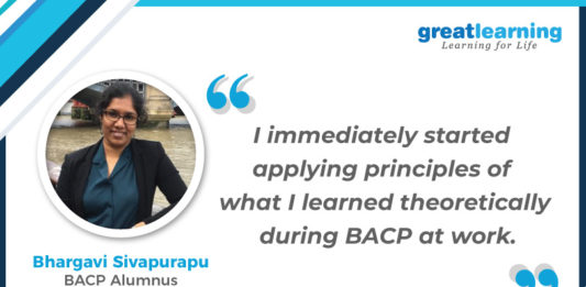 Bhargavi Success Story BACP Great Learning