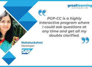 Great Learning Success Story by PGP-CC Alumnus : Mahaluckshmi , Developer at SAP