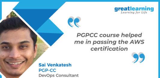 Great Learning Success Story by PGP-CC Alumnus : Sai Venkatesh , DevOps Consultant at Verizon