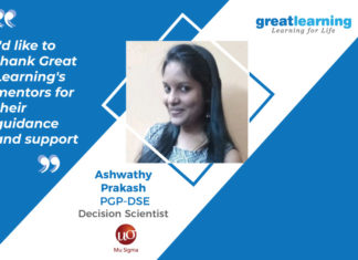 Great Learning Success Story by PGP- DSE Alumnus : Ashwathy Prakash , Decision Scientist at Mu Sigma
