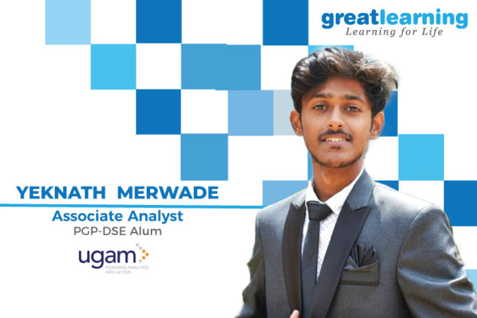 Great Leaning Success Story by PGP-DSE Alumnus : Yeknath Merwade , Data Analyst at Ugam