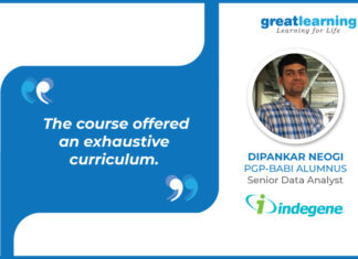 great learning success story - Dipankar Neogi