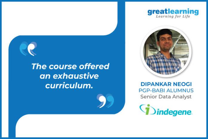 great learning success story - Dipankar Neogi