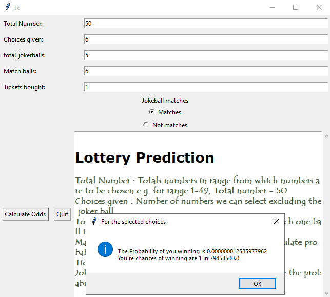 probability of winning the lottery