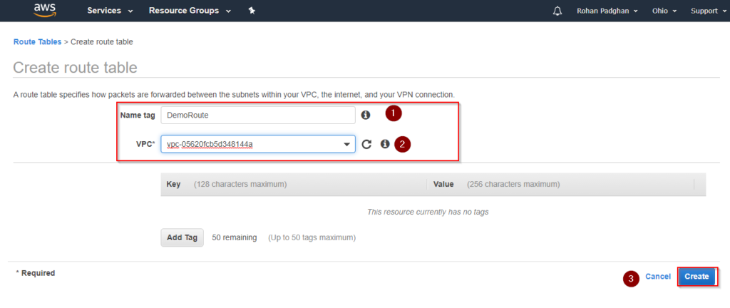 Step 7 - AWS VPC - Great Learning