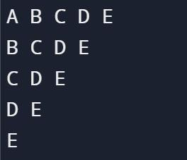 Pattern program in python